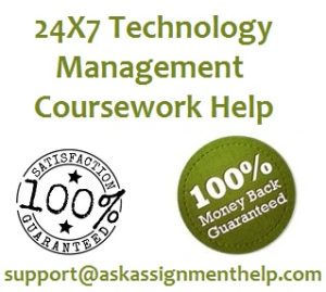 technology management coursework help