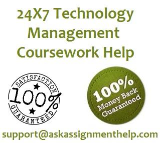 technology management coursework help