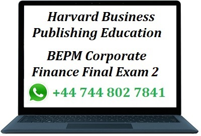 harvard corporate finance final exam 2